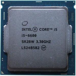 送料無料★本体PC用CPU Intel CPU Core i5-6600 3.3GHz 6Mキャッシュ 4コア/4スレッド SR2BW★初期保障あり★完動品★増設cpu【中古】