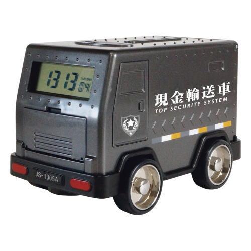 現金輸送車バンク 現金輸送車 ご予約品 アラームクロック機能付き貯金箱 BANK 正規認証品!新規格