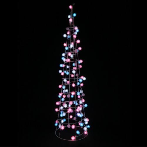 LEDケサラントゥインクルコーンツリー(ブルー&ピンク)