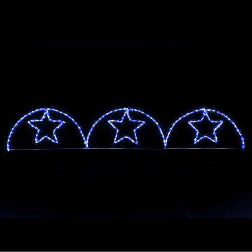 LEDガーデンスターアーチ(ブルー&ホワイト) ★クリスマス イルミネーション