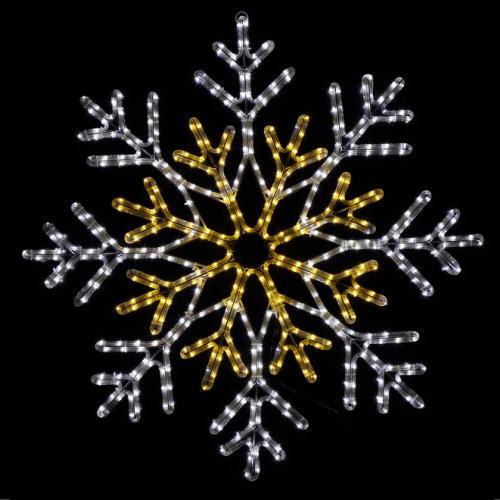 LEDチューブライトスノーフレークDX(ゴールド&ホワイト) ★クリスマス イルミネーション