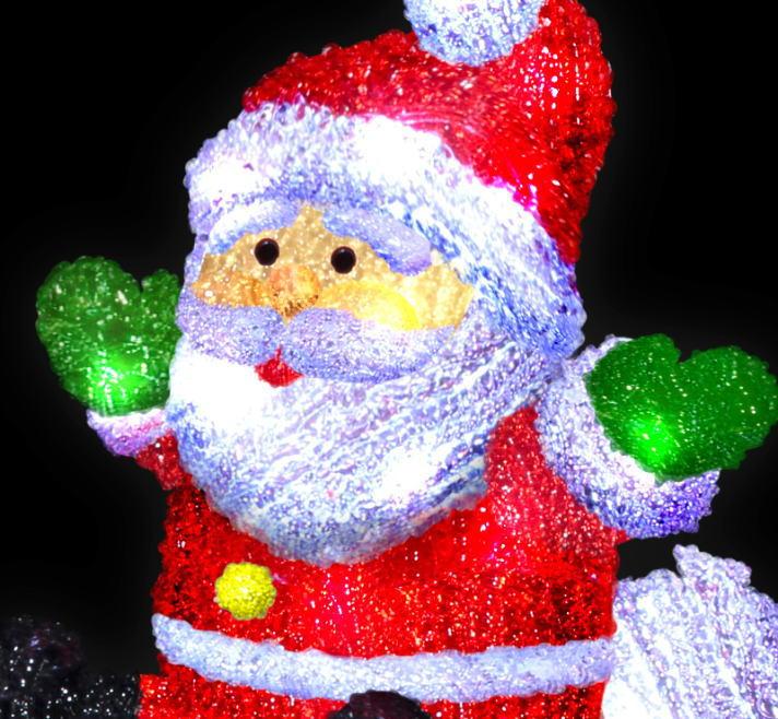 LEDクリスタルモチーフ サンタトレイン ★クリスマス イルミネーション