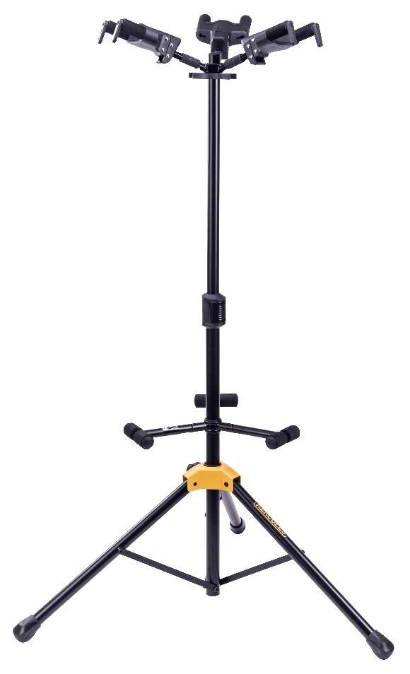 お取り寄せ商品 HERCULES GS432B PLUS Trio トリオスタンド 3本用掛け 折りたたみ式 2020春夏新作 最新 ハーキュレス 自動ロック 3本立てギタースタンド 高さ調整可能
