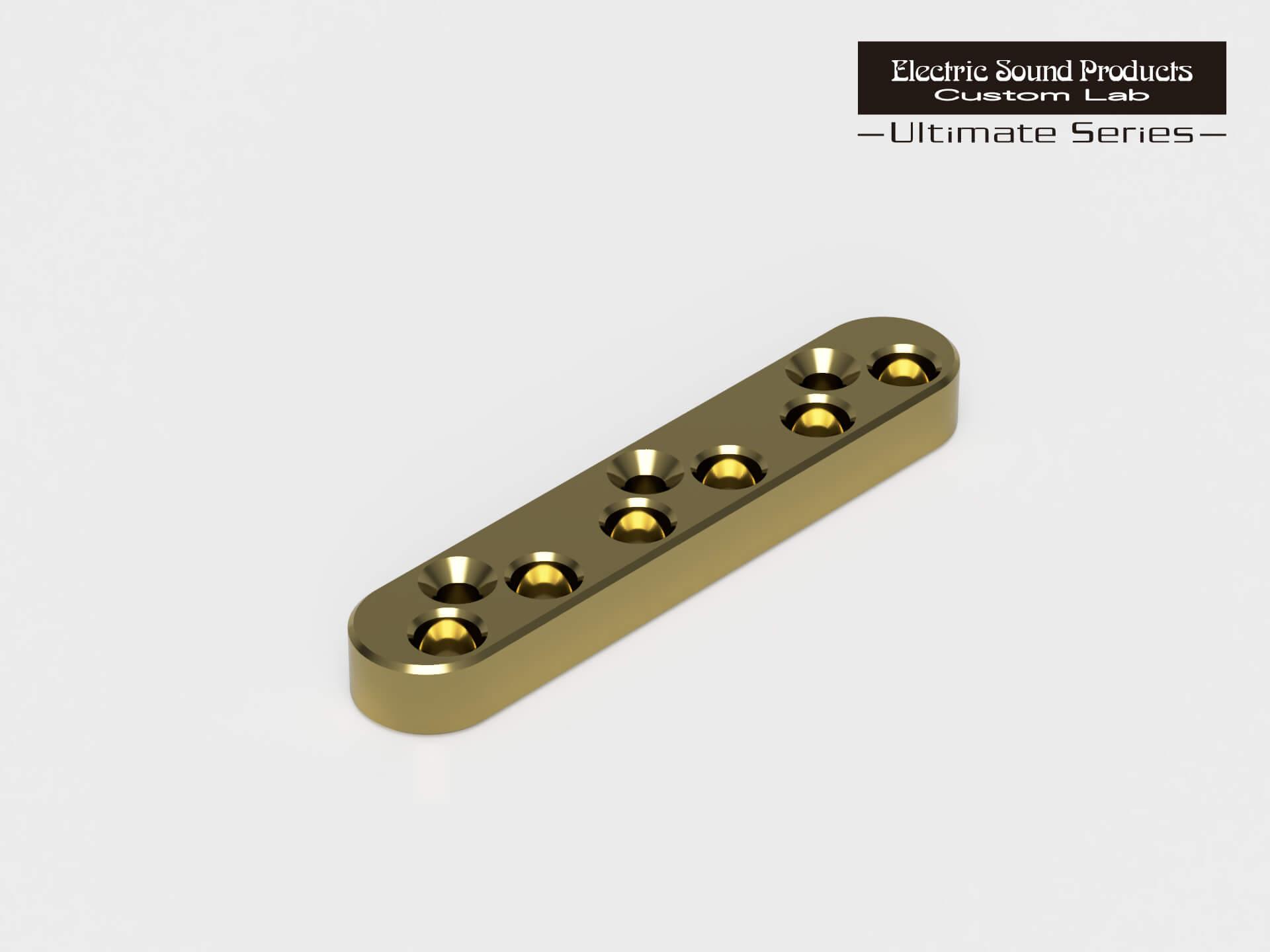 ESP Parts Custom Lab String Back Plate Gold 6 パーツ 6弦用 アルティメイトシリーズ カスタムラボ 新入荷 流行 ゴールド ラッピング無料