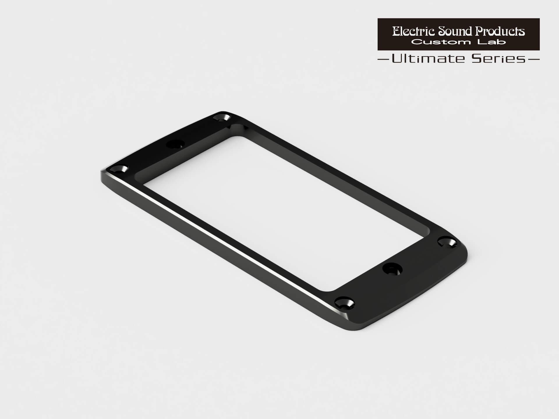 ESP Parts Custom Lab 大幅値下げランキング Beveled PU Ring Flat-F エスカッション Black セール特別価格 Brass パーツ アルティメイトシリーズ カスタムラボ ブラック