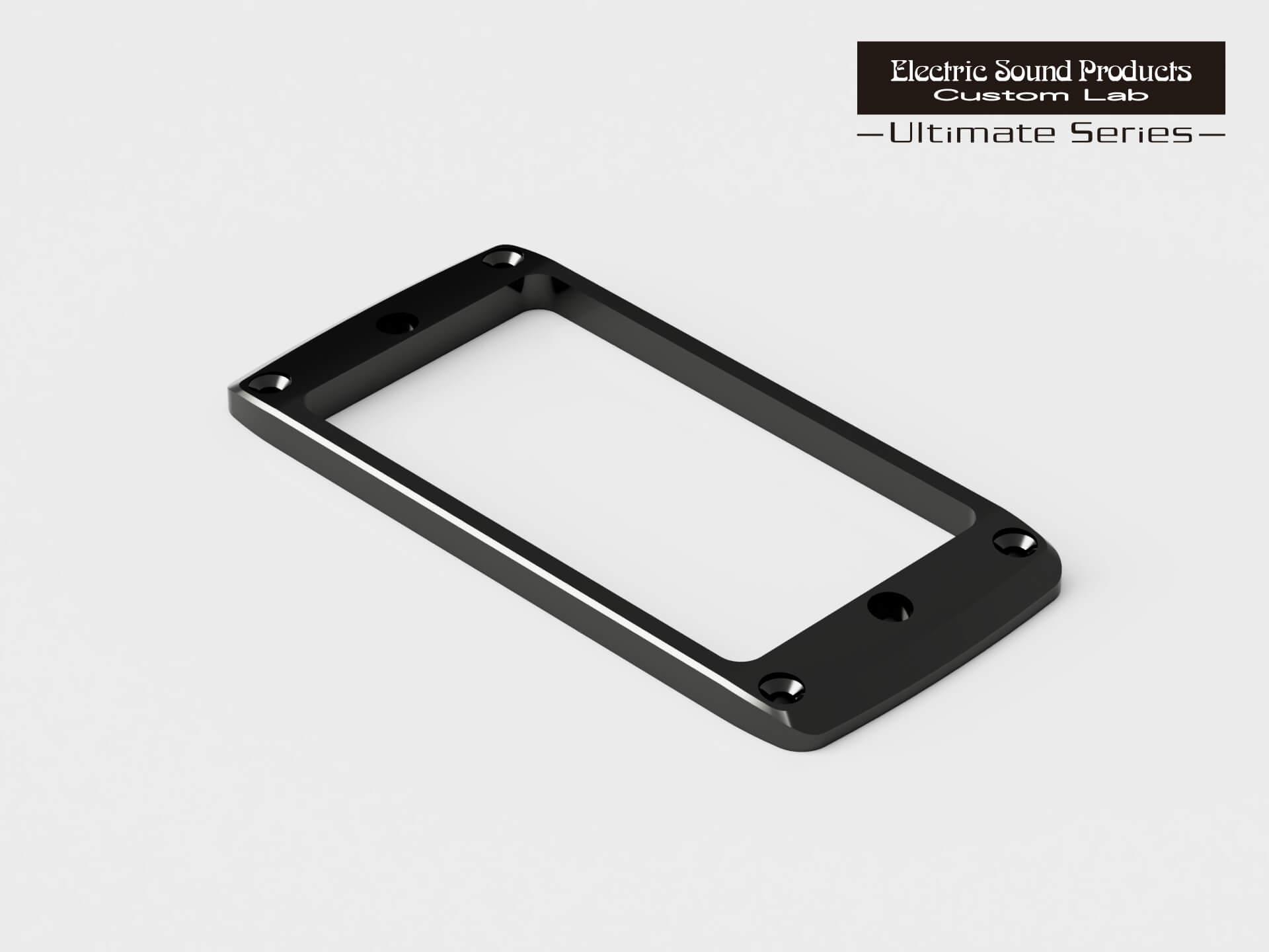 ESP Parts Custom Lab 好評 Beveled PU ついに入荷 Ring Flat-2 エスカッション アルティメイトシリーズ ブラック カスタムラボ Black Brass パーツ