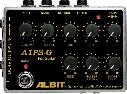 ALBIT / GUITAR PRE-AMP with DC9V POWER SUPPLY A1PS-G