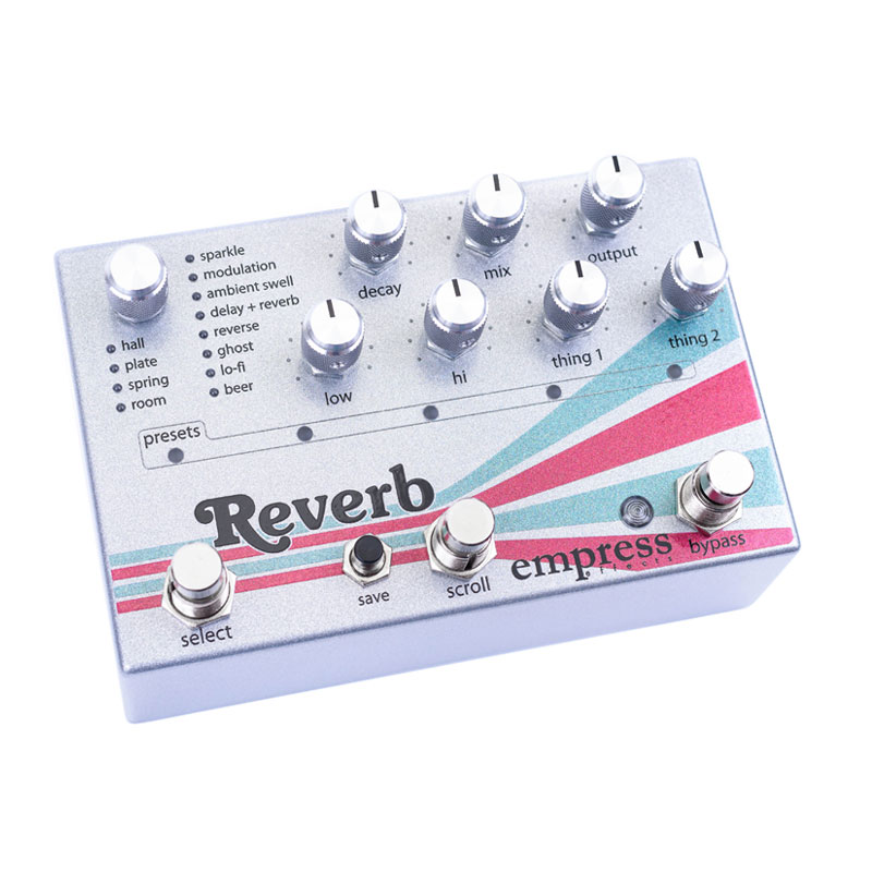 【即納可能】Empress Effects Reverb High-Quality Stereo Reverb