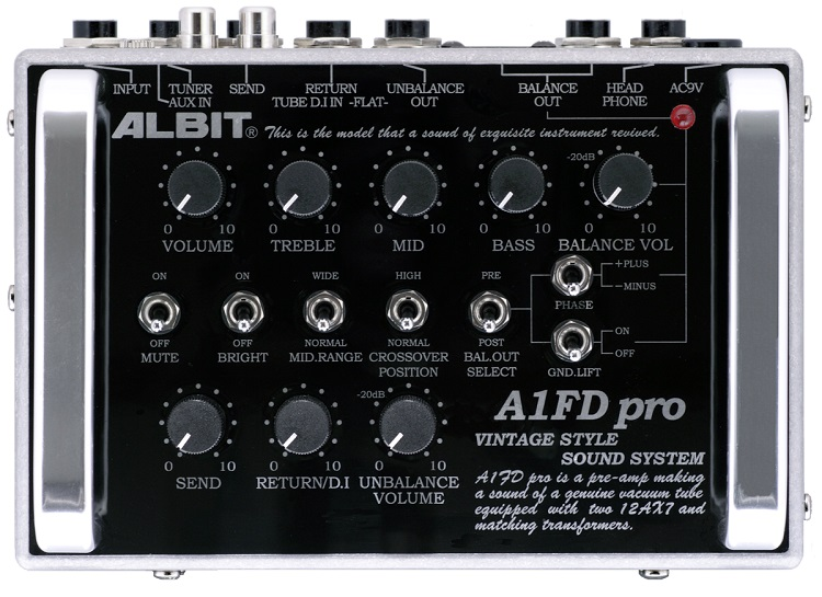 【お取寄せ商品】ALBIT A1FD pro (TUBE MODEL)/PRE-AMP D.I (GUITAR/BASS兼用)