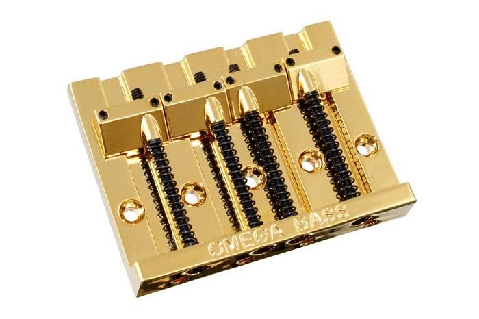Allparts / 4-String Omega Bass Bridge Gold