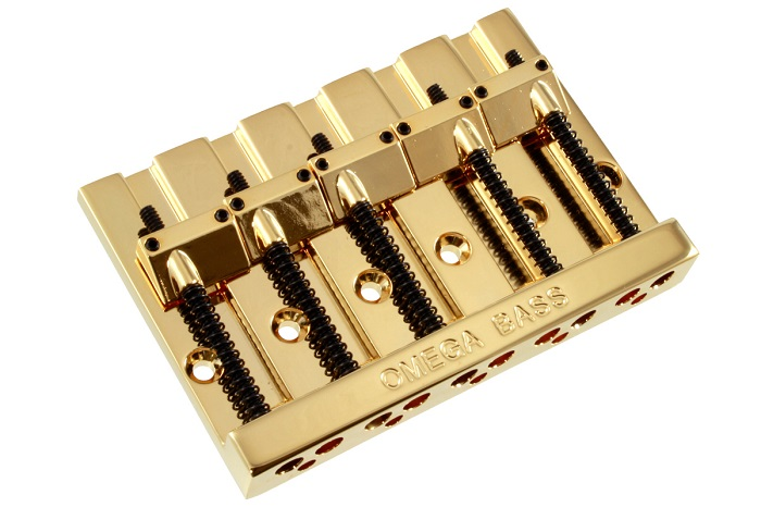 Allparts / 5-String Omega Bass Bridge Gold
