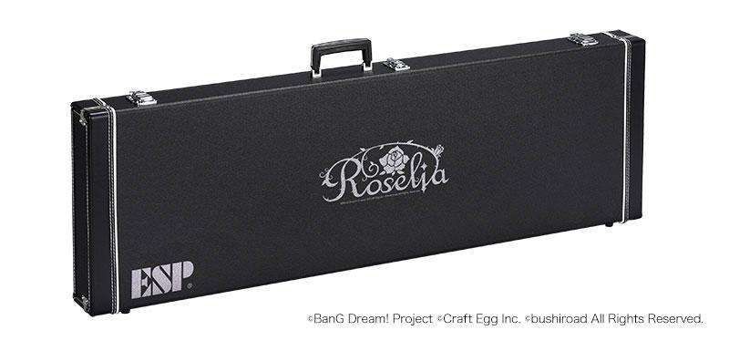 【受注生産商品】ESP×バンドリ! ガールズバンドパーティ! コラボレーション Roselia ハードケース HC-400 ROSELIA-B ESP BTLシェイプベース用
