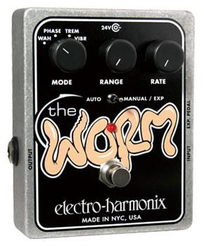electro-harmonix The Worm フェイザー、トレモロ、ビブラート、モジュレーションワウ