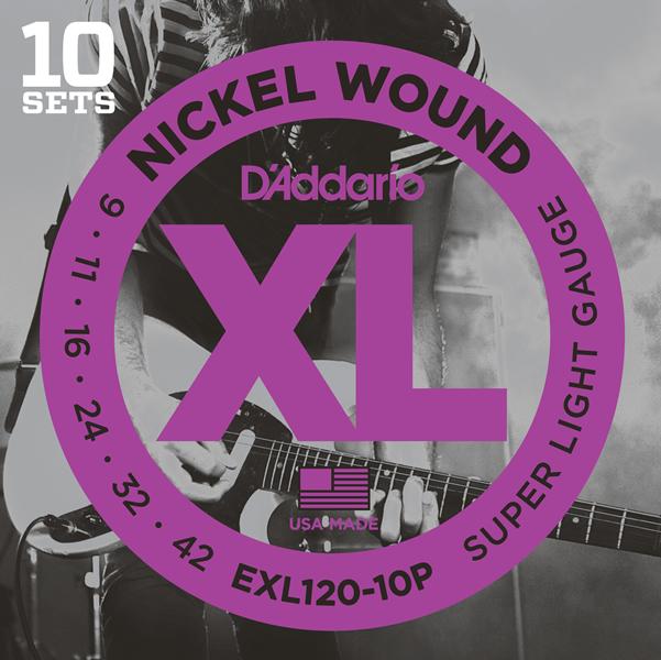D'Addario EXL120 10pack set / XL Nickel Round Wound
