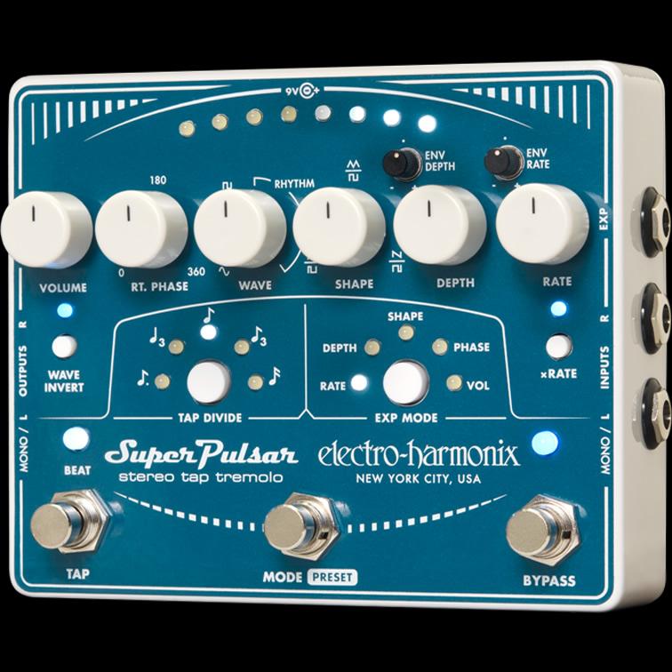 electro-Harmonix / Super Pulsar Stereo Tap Tremolo