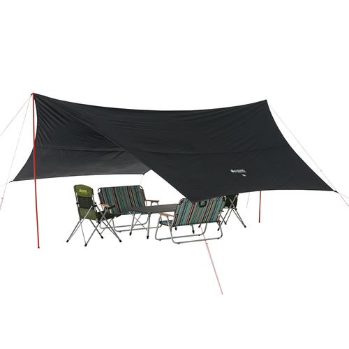ロゴス LOGOS キャンプ タープ Black UV ヘキサ5750-AG 71808022