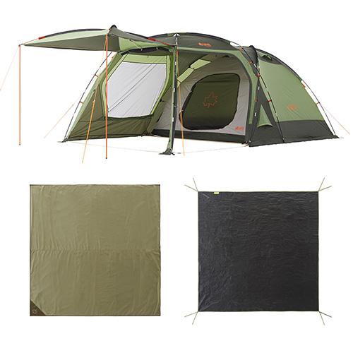 ロゴス LOGOS キャンプ PANEL パネル スクリーンドゥーブル XL チャレンジセット テント 5人用 71809550