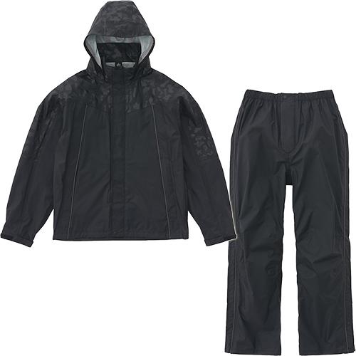 ロゴス LOGOS レインスーツ スロエ ブラックカモ メンズ 367088