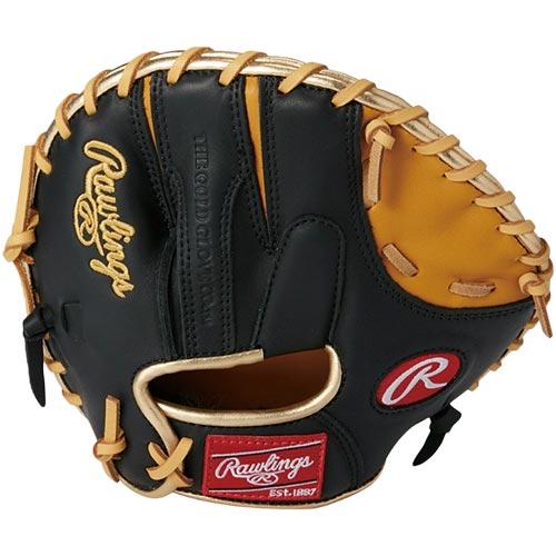 ローリングス Rawlings 野球 硬式用 グローブ LH 右投用 ゲーマー トレーニング用 パンケーキタイプ ブラック/ゴールドタン GH8FGT2