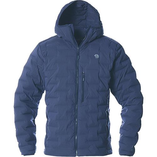2019秋冬 アウター 防寒 アウトドア マウンテンハードウェア Mountain Hardwear メンズ スーパー DS ストレッチダウンフーデッドジャケット Super/DS Stretchdown Hooded Jacket ダークジンク OM7674 406