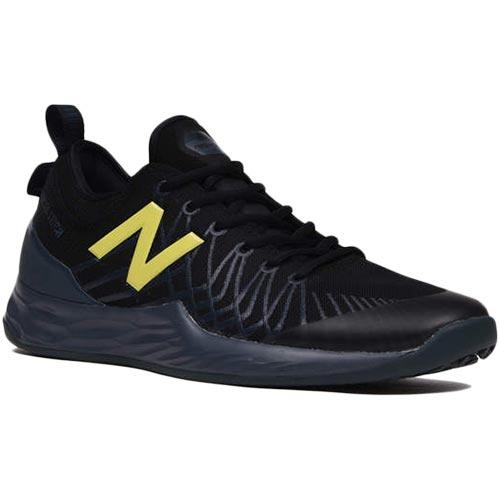 ニューバランス New Balance メンズ テニスシューズ オムニコート クレーコート ブラック/ライム MCOLAVMG 2E