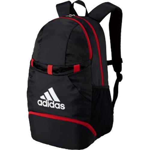 アディダス adidas サッカー フットサル ボール用デイパック 黒×赤 ADP28BKR
