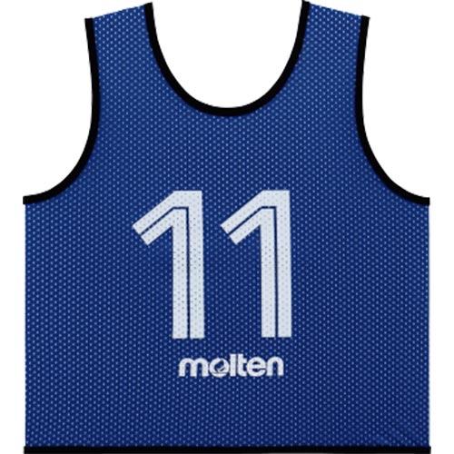モルテン molten サッカー フットサル ゲームベスト GV 10枚セット 番号2~11 青 GS0112-B