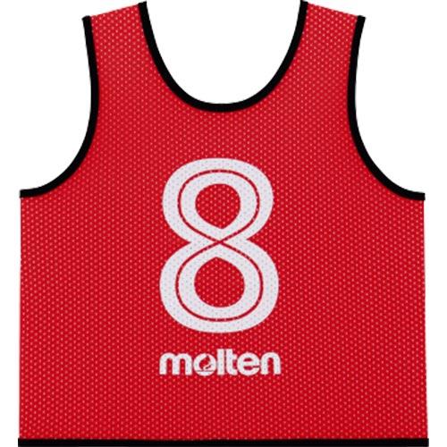 モルテン molten サッカー フットサル ゲームベスト GV 10枚セット 番号2~11 赤 GS0112-R