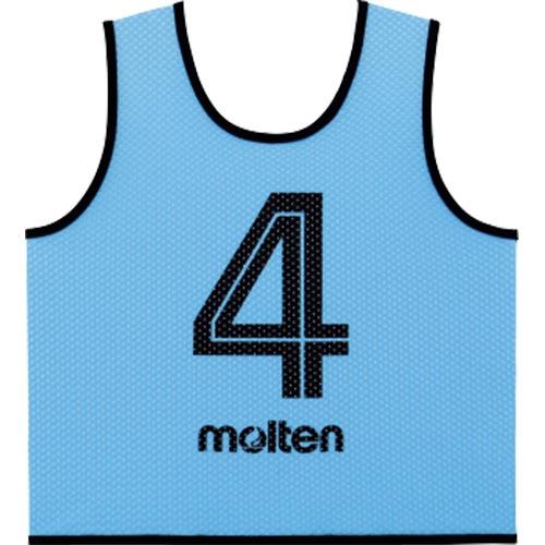 モルテン molten サッカー フットサル ゲームベスト GV 10枚セット 番号2~11 サックス GS0112-SK