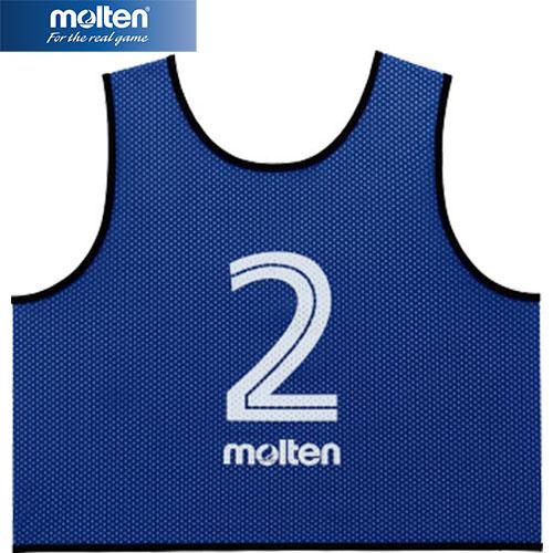 モルテン molten サッカー フットサル ゲームベスト GV 10枚セット 番号2~11 青 GS0113-B