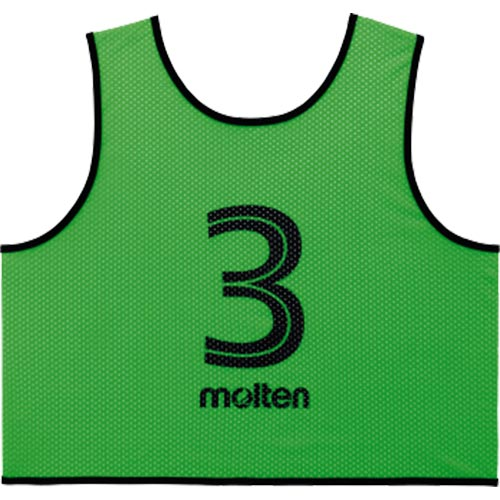 モルテン molten サッカー フットサル ゲームベスト GV 10枚セット 番号2~11 蛍光グリーン GS0113-KG