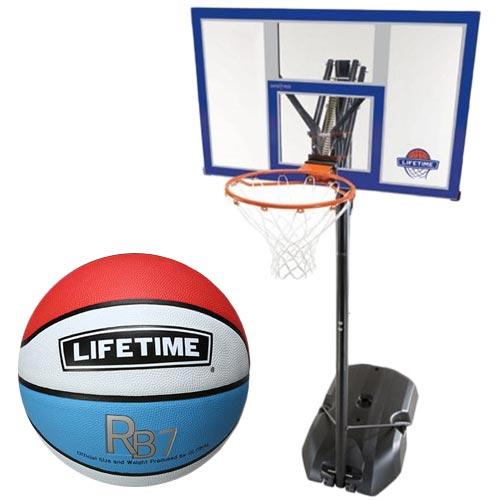 【特殊送料】ライフタイム LIFE TIME バスケットゴール LT-90000 7号ボールセット