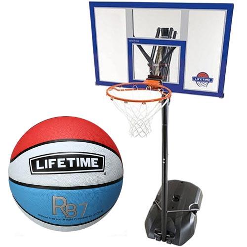 【特殊送料】ライフタイム LIFE TIME バスケットゴール LT-90000 5号ボールセット