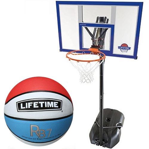 【特殊送料】ライフタイム LIFE TIME バスケットゴール+ボールリターン+5号ボールセット LT-90000RE