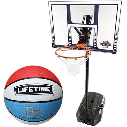 ライフタイム LIFE TIME バスケットゴール+ボールリターン+5号ボールセット LT-90001RE
