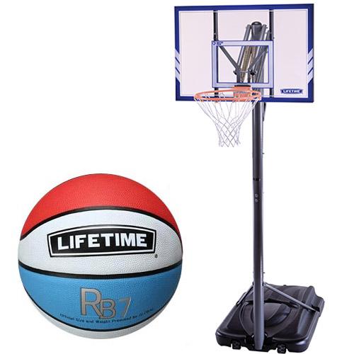 【特殊送料】ライフタイム LIFE TIME バスケットゴール LT-71546 5号ボールセット