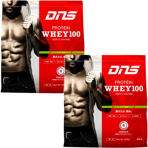 ディーエヌエス DNS トレーニング プロテイン ホエイ 100 レモン風味 1kg×2 2kg 2000g