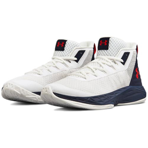 【本日特価】 アンダーアーマー UNDER ARMOUR メンズ バスケットボール ARMOUR シューズ 3020623 UA Jet Mid Mid 102:WHT/MDN/RED 3020623, かめあし商店:3c543be1 --- business.personalco5.dominiotemporario.com