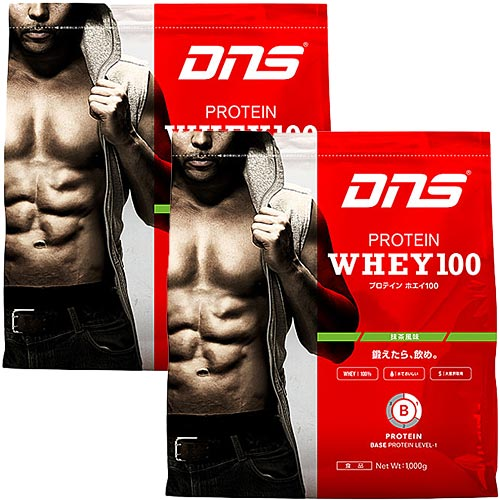 ディーエヌエス DNS プロテインホエイ100 抹茶風味 1kg 2袋セット 817139-2