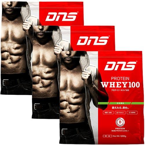ディーエヌエス DNS プロテインホエイ100 抹茶風味 1kg 3袋セット 817139-3