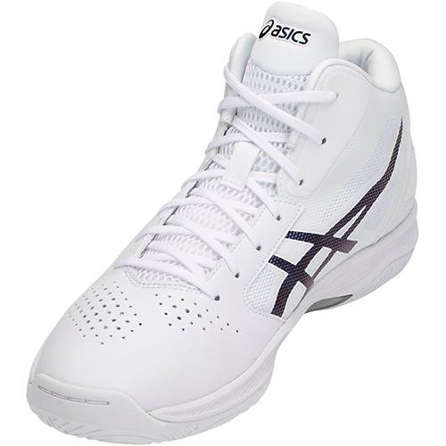 アシックス asics バスケットボールシューズ GELHOOP V 10 ゲルフープ ホワイト×プリズムスペースブルー TBF339 0154 メンズ レディース