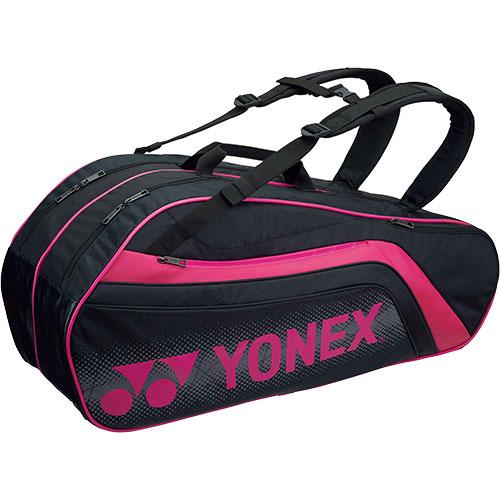 ヨネックス YONEX ラケットバッグ6 リュック付き ブラック/ピンク BAG1812R 181