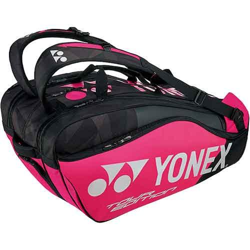 ヨネックス YONEX ラケットバッグ9 リュック付 ブラック/ピンク BAG1802N 181