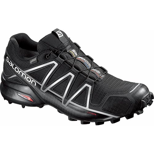 サロモン SALOMON スピードクロス4 ゴアテックス SPEEDCROSS 4 GTXR BLACK/BLACK/SILVER METALLIC-X 25~28.5cm L38318100