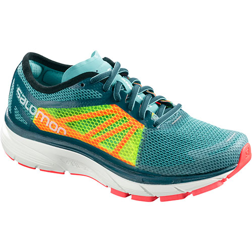 サロモン SALOMON ソニックRA ウィメンズ SONIC RA W BLUE CURACAO/SAFETY YELLOW/FIERY CORAL L40143800 レディース
