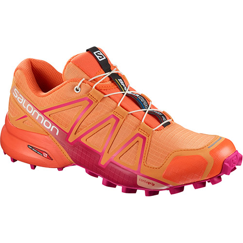 サロモン SALOMON スピードクロス4 ウィメンズ SPEEDCROSS 4 W BIRD OF PARADISE/NASTURTIUM./PINK YARROW L40098500 レディース