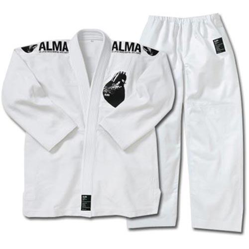 【受注生産品】アルマ ALMA 国産柔術着 A1 白 上下セット JU1-A1-WH