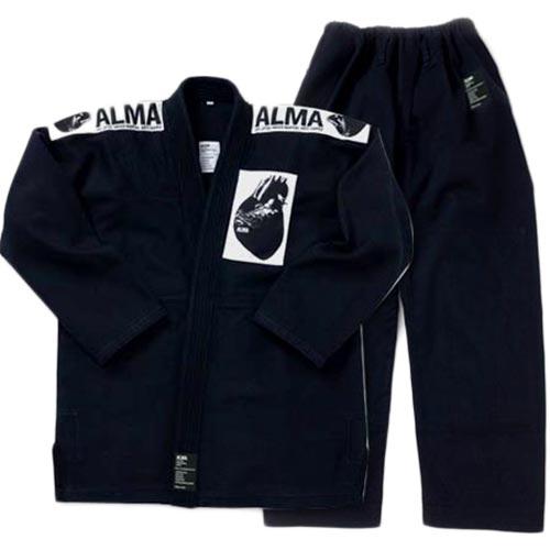【受注生産品】アルマ ALMA 国産柔術着 M1 黒 上下セット JU1-M1-BK