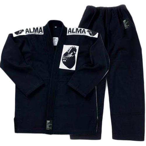 【受注生産品】アルマ ALMA 国産柔術着 M2 黒 上下セット JU1-M2-BK