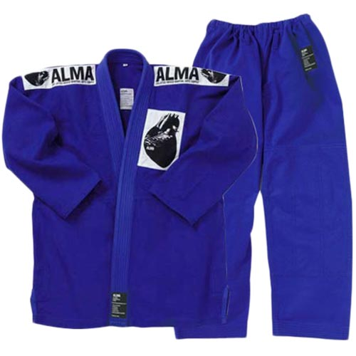【受注生産品】アルマ ALMA 国産柔術着 M1 青 上下セット JU1-M1-BU